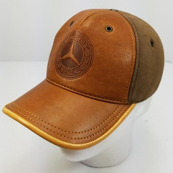 032a9eac81b Mercedes Benz All season Leather Baseball Hat  Cap